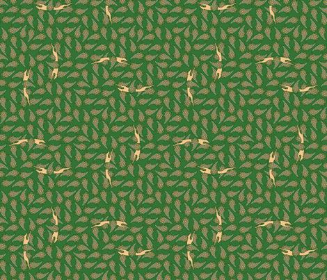 Greyhound Silhouette tan green © 2012 by Jane Walker fabric by artbyjanewalker on Spoonflower - custom fabric