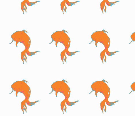Goldfish fabric by mjw23 on Spoonflower - custom fabric
