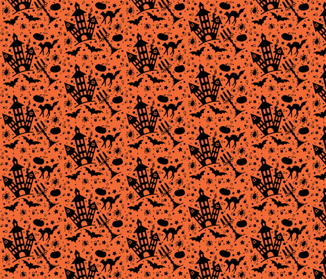 halloween_house fabric by julistyle on Spoonflower - custom fabric