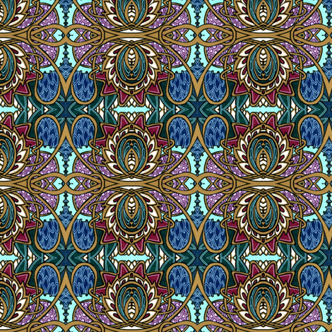 Poppeacock fabric by edsel2084 on Spoonflower - custom fabric