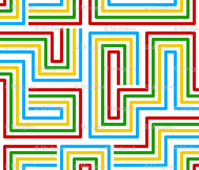 Modern Labyrinth White