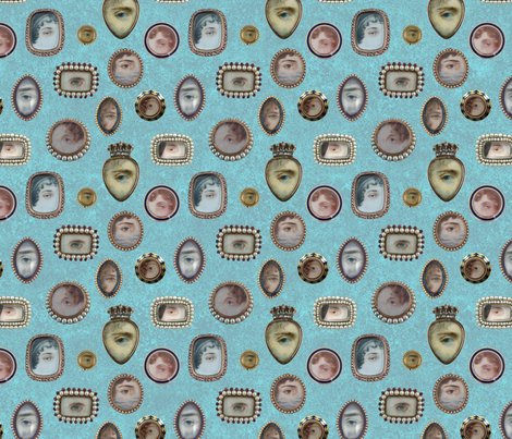 lb special lovers eyes fabric by mossbadger on Spoonflower - custom fabric