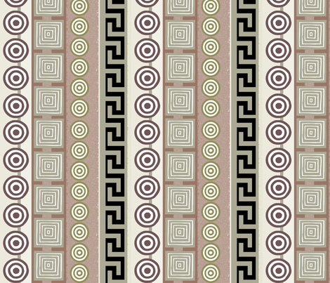 Ancient Greeks - striped fabric by wiccked on Spoonflower - custom fabric