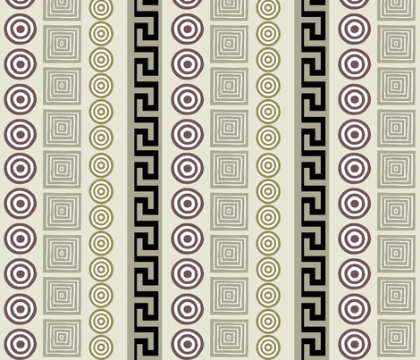 Ancient Greeks - cream fabric by wiccked on Spoonflower - custom fabric