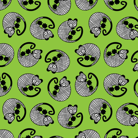 _PossumGreen fabric by yellowstudio on Spoonflower - custom fabric