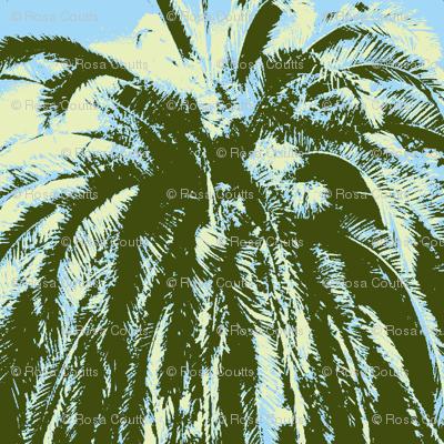 palms green yellow
