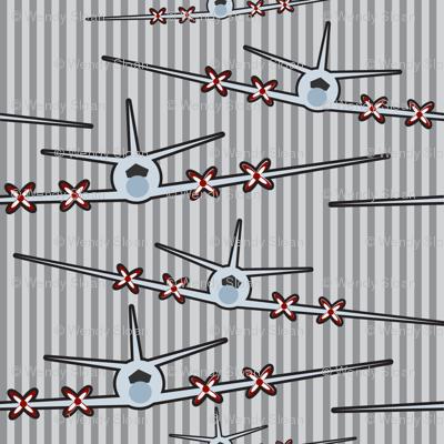 Airplane stripes