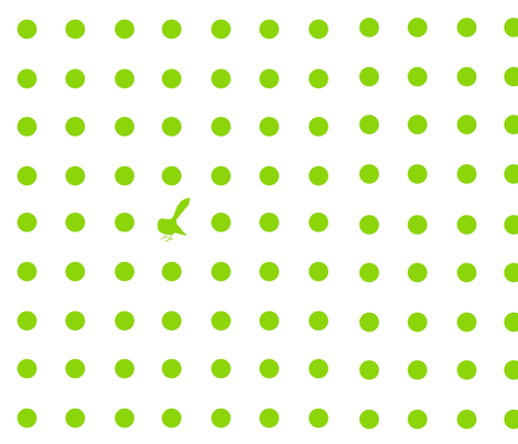 Kiwi Holiday Lime Fantail Polka fabric by smuk on Spoonflower - custom fabric