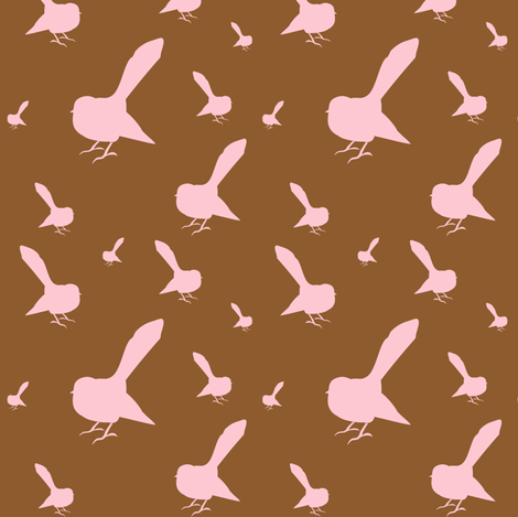 Kiwi Holiday Chocolate Candy Fantails fabric by smuk on Spoonflower - custom fabric