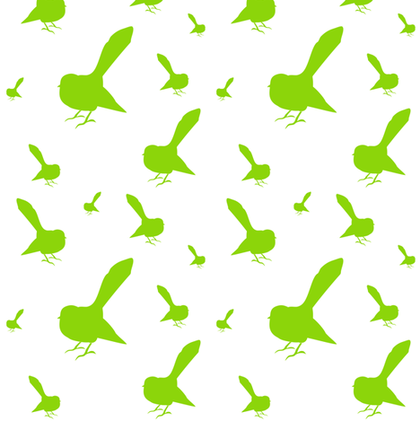 Kiwi Holiday Lime Fantails fabric by smuk on Spoonflower - custom fabric