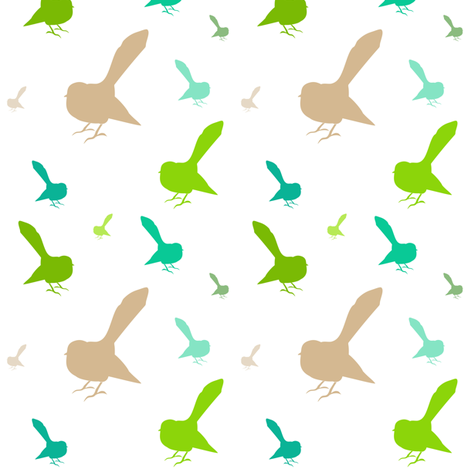Kiwi Holiday Natural Fantails fabric by smuk on Spoonflower - custom fabric
