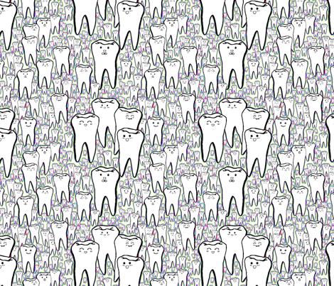 Milk Teeth - Rainbow fabric by beth_snow on Spoonflower - custom fabric