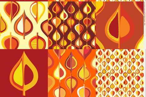 Ever-autumn cushion panels fabric by bippidiiboppidii on Spoonflower - custom fabric