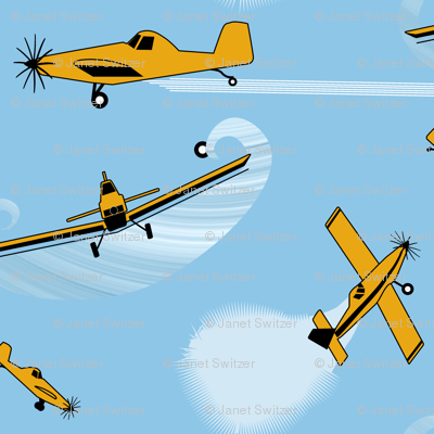 Air Tractor crop duster ditsy