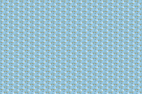 Air Tractor crop duster ditsy fabric by georgeandgracie on Spoonflower - custom fabric