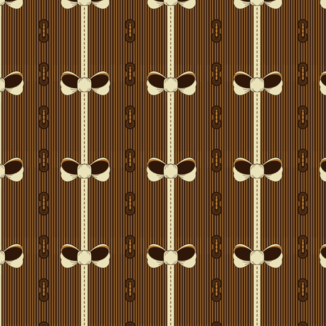 Caramel Bows fabric by eppiepeppercorn on Spoonflower - custom fabric