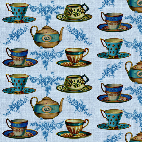 Tea Time fabric by marchhare on Spoonflower - custom fabric