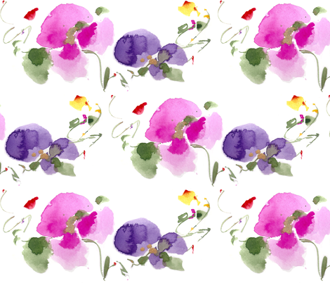 FLORAL_BLOSSOMS fabric by darlene_flood on Spoonflower - custom fabric