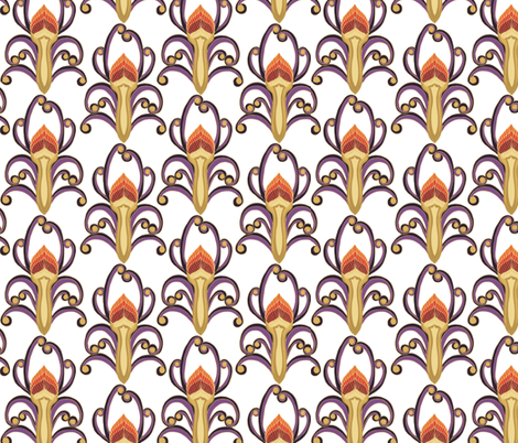 Olympic_fire_white fabric by kirpa on Spoonflower - custom fabric