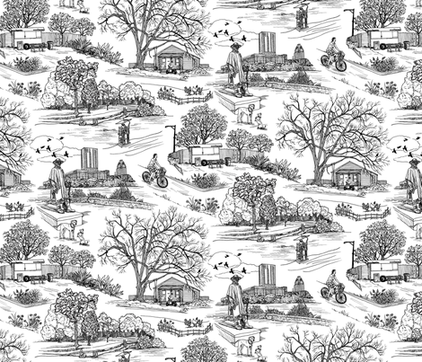 Austin Texas fabric by hollishammonds on Spoonflower - custom fabric