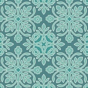 2 Papercuts diagonal MINAGREEN matches Hawaiian quilt sRGB