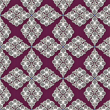 Embroidery frost and wine fabric by glimmericks on Spoonflower - custom fabric