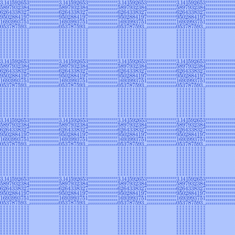 "blueberry cream pi - gingham (1"" check) fabric by weavingmajor on Spoonflower - custom fabric"