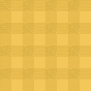 "lemon cream pi - gingham (1"" check)"