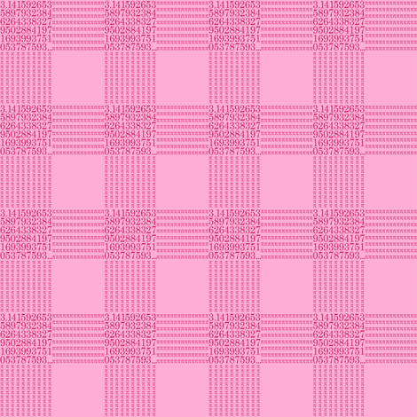 strawberry cream pi - gingham fabric by weavingmajor on Spoonflower - custom fabric