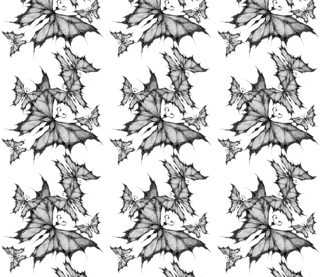 Lace Butterfly Flock fabric by art_rat on Spoonflower - custom fabric