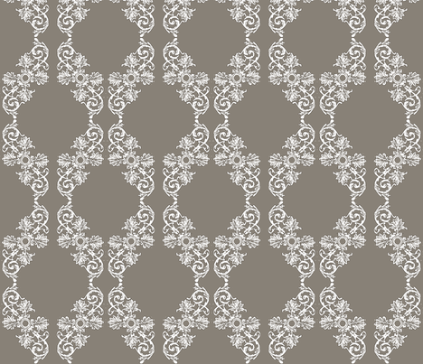 Watercolor Charcoal Scroll fabric by horn&ivory on Spoonflower - custom fabric
