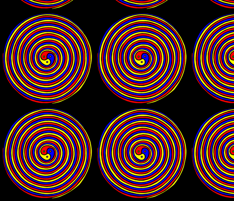 3 Part Harmony Spiral fabric by art_rat on Spoonflower - custom fabric