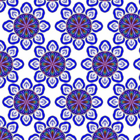 SnowFlower fabric by fireflower on Spoonflower - custom fabric