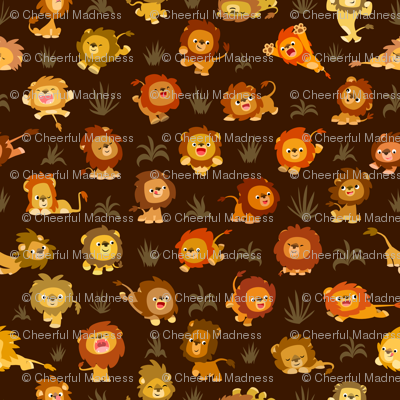 Kawaii Little Lions Brown by Cheerful Madness!!