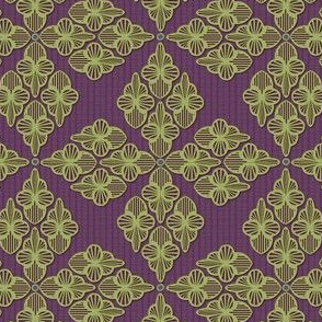 Embroidery sage and violet