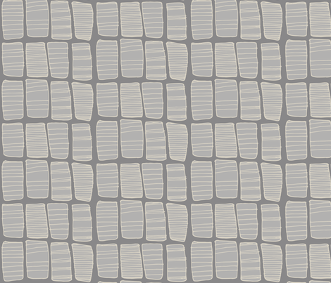 Gray Hand-drawn Boxes fabric by katebutler on Spoonflower - custom fabric
