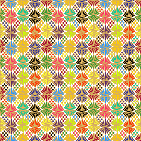 Mummer_on_White fabric by glimmericks on Spoonflower - custom fabric
