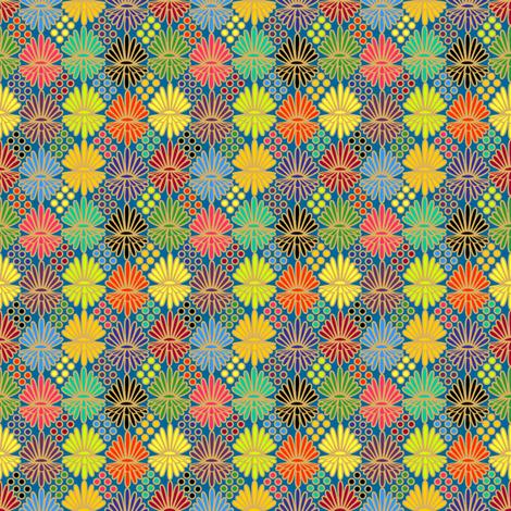 Mummer_on_blue fabric by glimmericks on Spoonflower - custom fabric