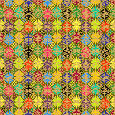 Mummer_on_olive fabric by glimmericks on Spoonflower - custom fabric