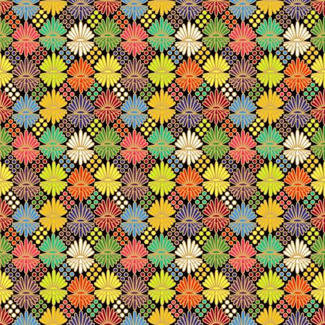 Mummer_on_black fabric by glimmericks on Spoonflower - custom fabric