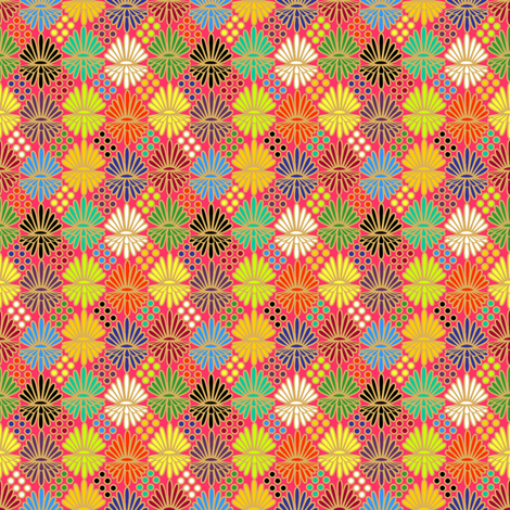 Mummer_on_pink fabric by glimmericks on Spoonflower - custom fabric
