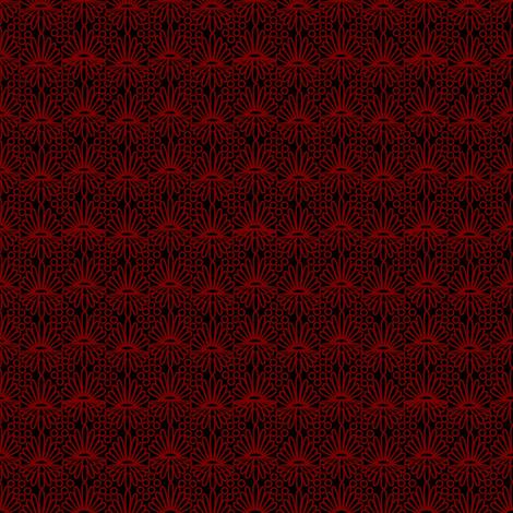 Mummer_-red on black fabric by glimmericks on Spoonflower - custom fabric