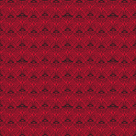 Mummer_-black on red fabric by glimmericks on Spoonflower - custom fabric
