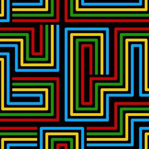 Modern Labyrinth Black