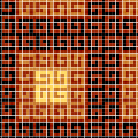 greek mosaic dark fabric by sef on Spoonflower - custom fabric