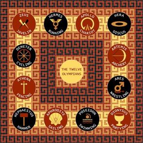 01318668 : 12 olympians : terracotta