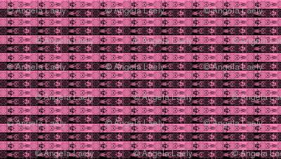Nightmare Stripes - Black/Pink
