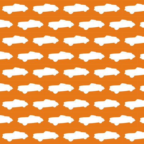 Mighty Mandarin Motorcar fabric by smuk on Spoonflower - custom fabric