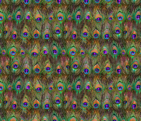 Peacock Feathers Invasion - Plane fabric by bonnie_phantasm on Spoonflower - custom fabric