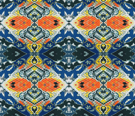 Royal Flush, Touch of Seville fabric by susaninparis on Spoonflower - custom fabric